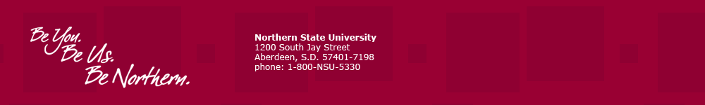 Northern State University Footer